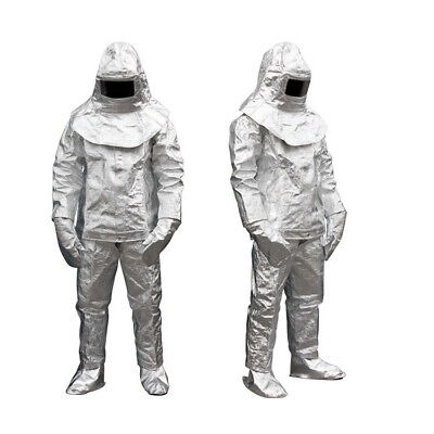 Super Thermal Radiation 1000°C Heat Resistant Aluminized Suit Fireproof Clothes • 139.39$