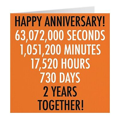 2nd Wedding Anniversary Card - Cotton Anniversary - Numbers Collection • 3.99£