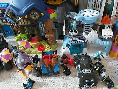 Imaginext Dc Super Friends, Batman Cave,  Joker My Freeze Loads Of Figures • 110£