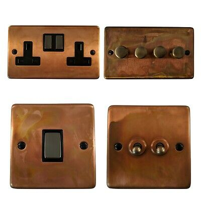 Tarnished Copper CTC3 Light Switches, Plug Sockets, Dimmer Switch, Cooker, Fuse • 17.20£