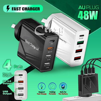 AU24.95 • Buy Super Speed Charging PD USB + Type C Wall Adapter Plug For Apple Samsung Nokia