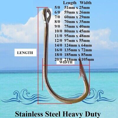 AU7 • Buy Game Fishing Hooks Stainless Steel Fishing Hooks Trolling Hooks Shark Hooks New