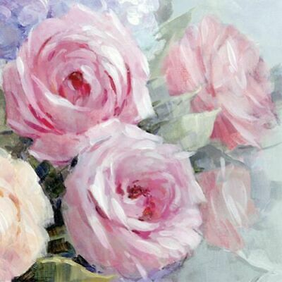 £4.80 • Buy Decoupage Paper Napkins  JULIA  Lunch Shabby Chic Roses Floral 1pc OR 20pcs