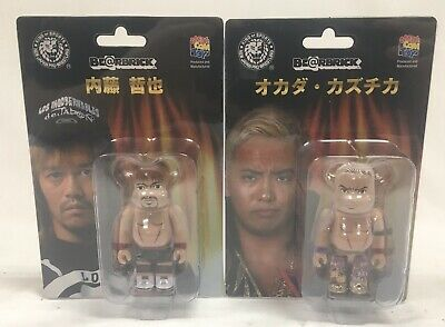 $34.99 • Buy New Japan Pro-Wrestling Okada & Naito Lot 100% Bearbrick Be@rBrick New Sealed