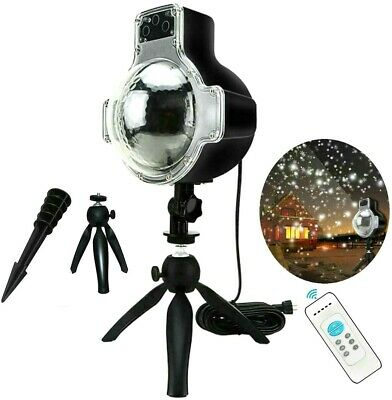 Snowfall LED Light Snowflake Projector Lamp For Christmas Indoor Outdoor Decor • 18.49$
