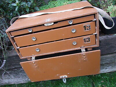 Vintage Wooden Collectors Drawers Specimen Chest Case Portable Storage (2) • 45£