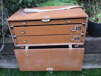 Vintage Wooden Collectors Drawers Specimen Chest Case Portable Storage (3) • 45£