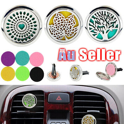 AU10.95 • Buy FRAGRANCE FRESHENER ESSENTIAL OIL AIR VENT CAR Stainless Aromatherapy DIFFUSER