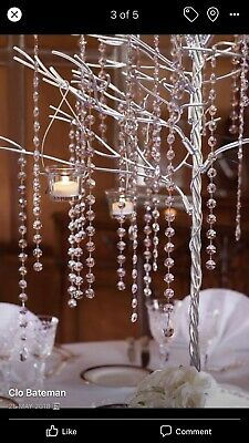 1x Stunning Table Centrepiece/Wishing Tree Made With Swarovski Crystal Chains. • 99£