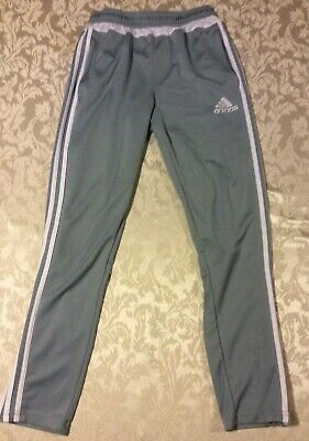 $ CDN30 • Buy Adidas Gray & White Stripes Climate Cool Soccer Jogging Pants Large