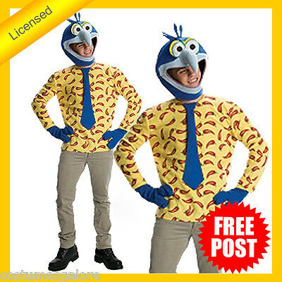 RUBIES Mens Costume Fancy Dress Licensed The Muppets Gonzo Classic 880318 • 46.36£