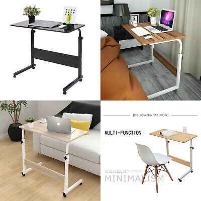 Adjustable Portable Laptop Table Trolley Computer Desk Keyboard Sofa Tray Height • 21.99£