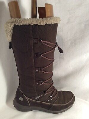 CLARKS Ladies Leather And Textile Mid Calf Walking Boots Size 4 • 26.99£