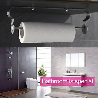 Kitchen Towel Paper Roll Holder Storage Wall-Mounted Stainless Steel Dispenser • 10.39£