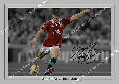 £7.89 • Buy Leigh Halfpenny Signed Rugby 2013 British Lions Memorabilia A4 Photo Print