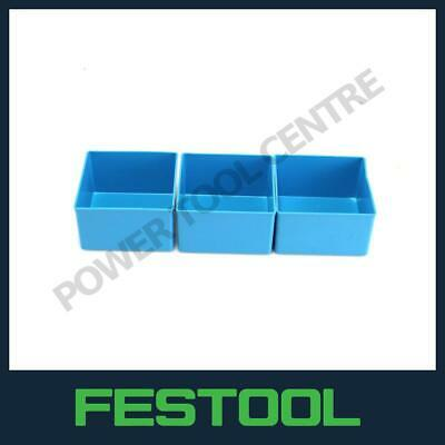£14.99 • Buy Genuine Festool 487659 Blue Plastic Compartments For Systainer 1 Box Pack Of 3