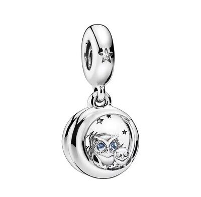ALWAYS BY YOUR SIDE Owl European Dangle Charm & Gift Pouch - Silver Tone - 2019 • 5.94£