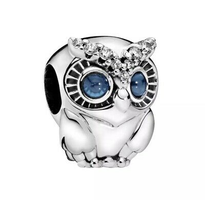 Sparkling Owl Autumn 2019 European Charm With Pink Gift Pouch - Silver Tone • 5.61£