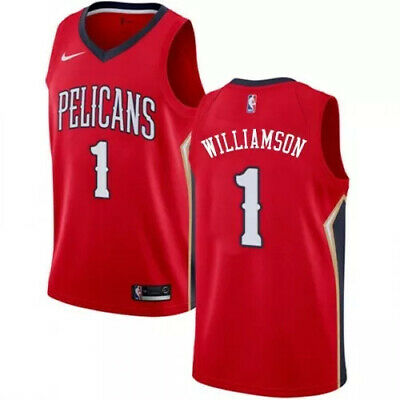 Zion Williamson New Orleans Pelicans Red Mens Basketball Jersey Size S M L XL • 49.99$