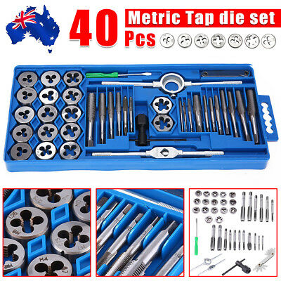 AU25.95 • Buy 40PCS TAP & DIE SET HARDENED METRIC Screw Thread Taper Drill Tool Kit Blue AU