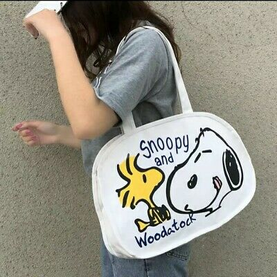Womens & Girls Snoopy Peanuts Shopper Tote Bag • 16.50£