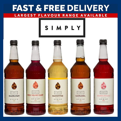 £9.39 • Buy Simply Syrups For Coffee And Cocktails | Full Range | 1L Plastic Bottle
