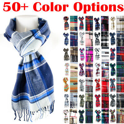 $6.49 • Buy Mens Womens Winter Warm SCOTLAND Made 100% CASHMERE Scarf Scarves Plaid Wool