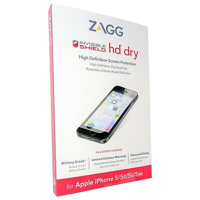 ZAGG IPhone 5, 5s, 5c, SE InvisibleShield HD Dry Screen Protector. • 1.95£