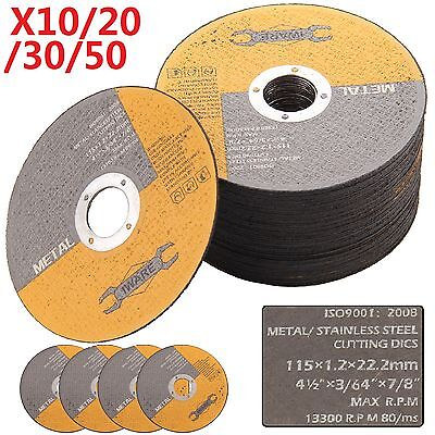 £10.89 • Buy 20 30 50x 115mm 4.5  Thin Metal Cutting Blade Disc Stainless Steel Angle Grinder