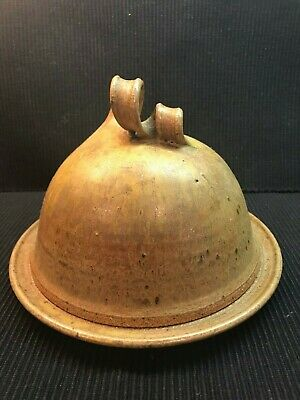 £35.39 • Buy Handmade And Signed Pottery Stoneware Butter / Cheese Bell Covered Dish
