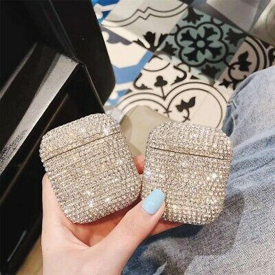$ CDN7.02 • Buy Bling Diamond Hard PC Earphone Protective Case Cover For Apple AirPods 1st 2nd
