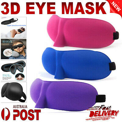 AU3.98 • Buy 3D Foam Padded Travel Eye Mask Sleep Sleeping Cover Rest Eyepatch Blindfold AU