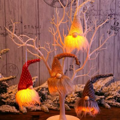 $4.81 • Buy Lighting Gnome Doll Christmas Pendant Decorative Hanging Ornament Indoor Decor
