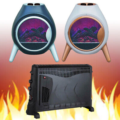 1.8KW Electric LED Fire Log Burning Flame Effect 2KW Convector Heater With Timer • 133.99£