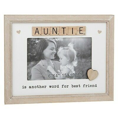 £9.95 • Buy Scrabble Sentiment Auntie Another Word  Best Friend  Photo 6  X 4  Frame  297271