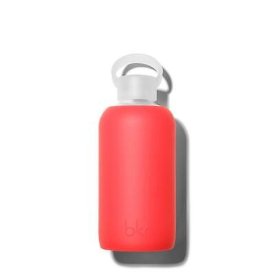Bkr Little 500 Ml Glass Water Bottle Silicone Sleeve MADLY Opaque Fiery Red • 26.05£