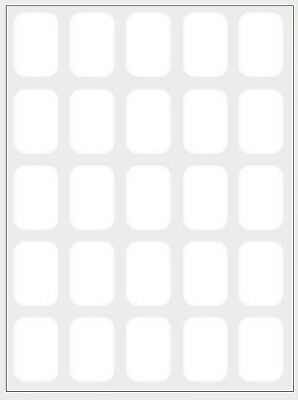 350 Small White Sticky Labels 18 X 12mm Price Stickers Tags Blank Self Adhesive • 2.19£