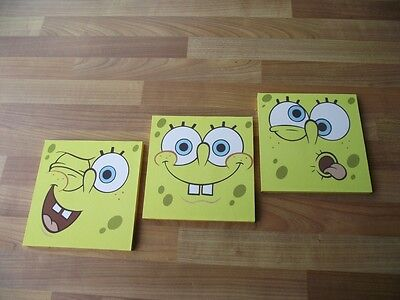Spongebob Squarepants Canvas Wall Art Plaques/pictures Set- Free Postage • 9.99£