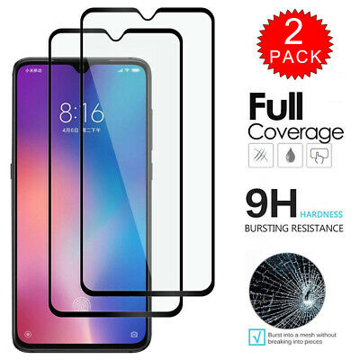 $7.99 • Buy For Xiaomi Redmi Note 7 Pro - FULL COVER Tempered Glass Screen Protector 2-Pack