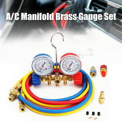 $27.83 • Buy R134a R12 Car Home A/C Refrigerant Manifold Gauge Charging Hoses Quick Couplers
