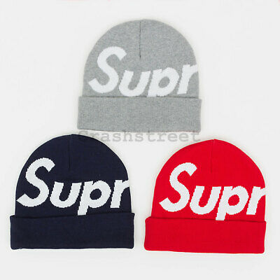 $ CDN114.18 • Buy Supreme FW19 Big Logo Beanie Cap Camp Logo Shirt Box Hat Tee Knit Hooded