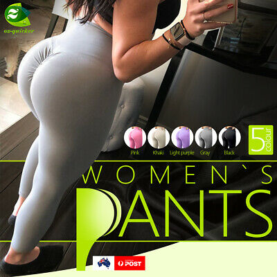AU15.99 • Buy Women's Push Up Yoga High Waist Anti Cellulite Sports Pants Running Trousers