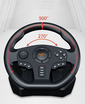 Driving Racing Controller Game Steering Wheel Brake Pedal F/ PC PS3 PS4 Xbox One • 223.99$