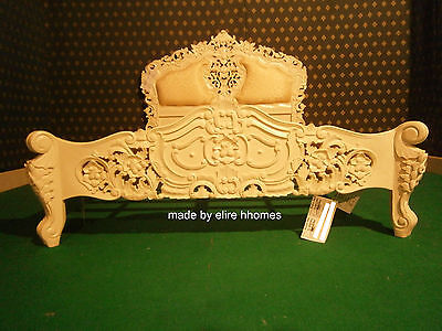 Ivory Cream 5' King Size French Baroque Louis Style TOP QUALITY Rococo Bed • 899£