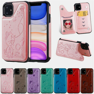 AU12.88 • Buy Cat Wallet Card Holder Back Case Cover For IPhone 12 11 Pro XS Max SE2 8 Plus X
