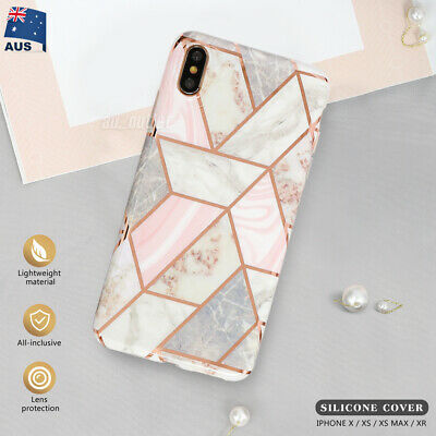 AU6.99 • Buy IPhone XS Max XR X Soft Case Luxury Marble Shockproof Silicone Cover For Apple