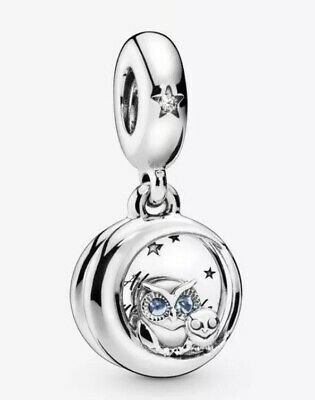 🇬🇧💜💜925 Sterling Silver Always By Your Side Owl Charm & Pouch • 18.50£