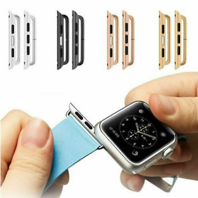 $ CDN4.33 • Buy For Apple Watch Series 5 4 3 2 1 Band  Stainless Steel Adapter Clasp Connector