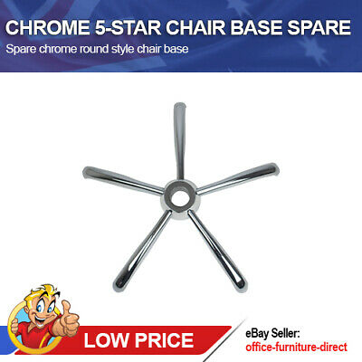 AU67 • Buy Office Chair Base Spare Replacement Metal Chrome Painted 5-Star Curved Style