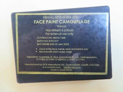 Six MTP Army Military Camouflage Face Paint Cam Cream Multi-Terrain • 14£